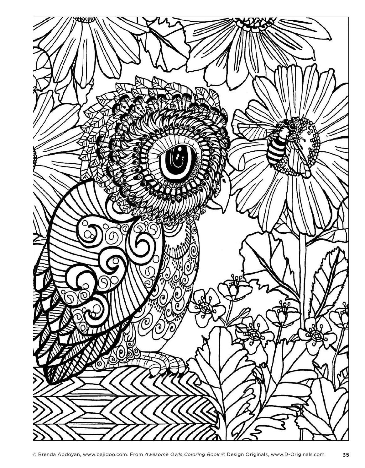 awesome owls coloring book by fox chapel publishing issuu color me beautiful coloriage. Black Bedroom Furniture Sets. Home Design Ideas