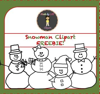 free snowman clipart snowmen clipart winter christmas clipart rh pinterest com Cute Clip Art for Teachers Cute Clip Art for Teachers