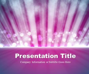Light Rays Purple Powerpoint Template Is A Free Powerpoint Template
