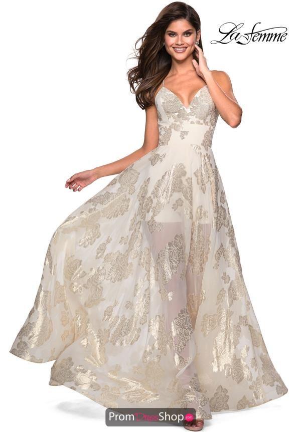 La Femme Dress 27547 White Ivory Dresses Pinterest Dresses