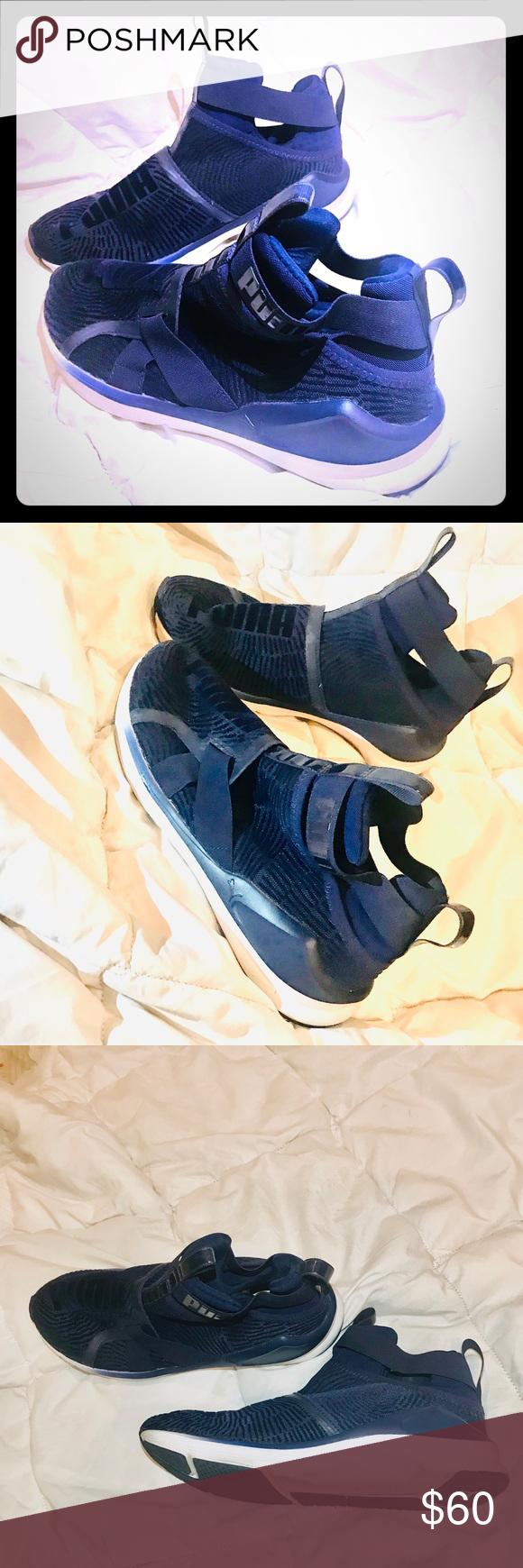 puma fierce strap navy blue