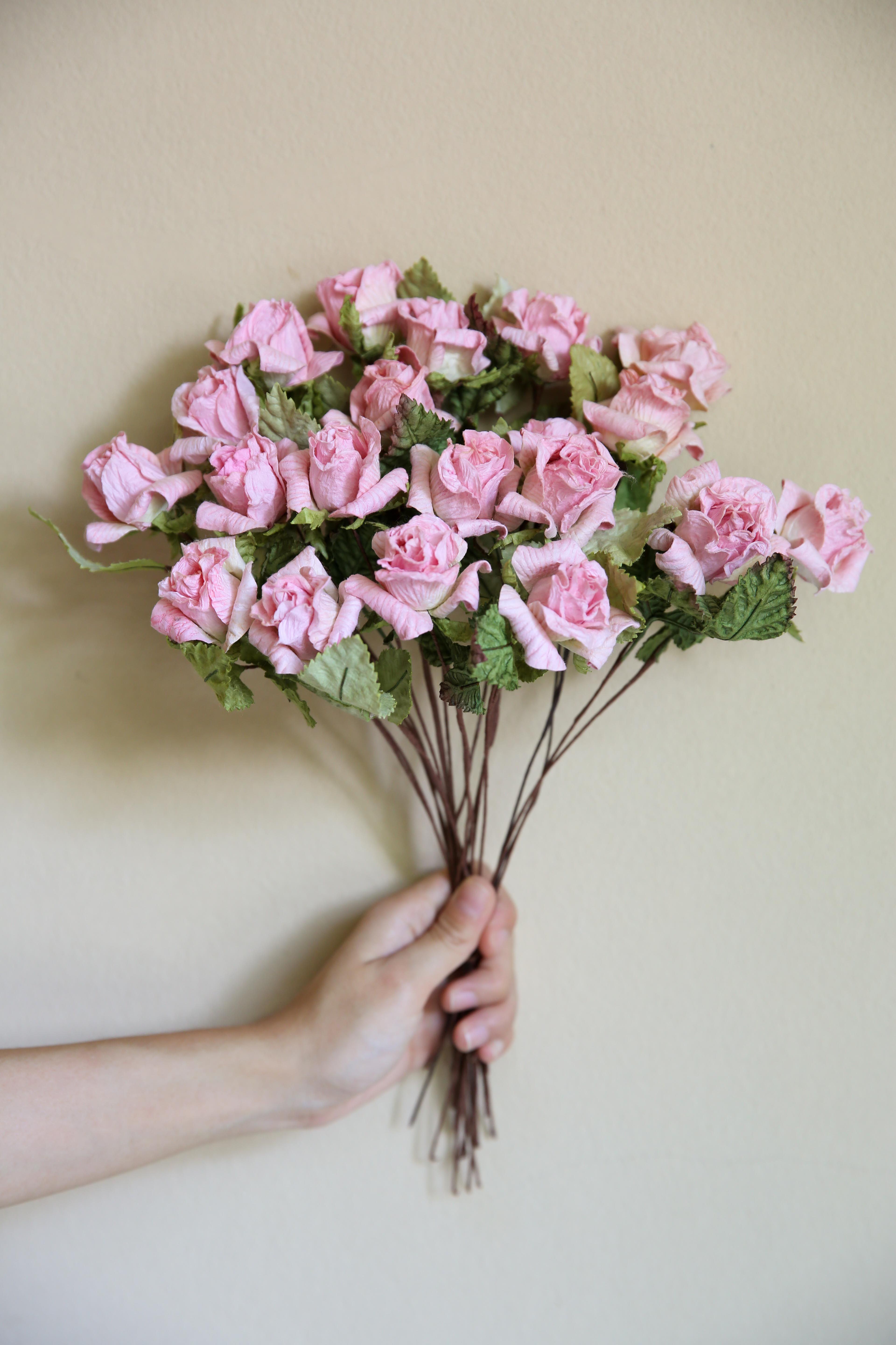 Light Pink Small Rose Small Rose Mulberry Paper Pinterest