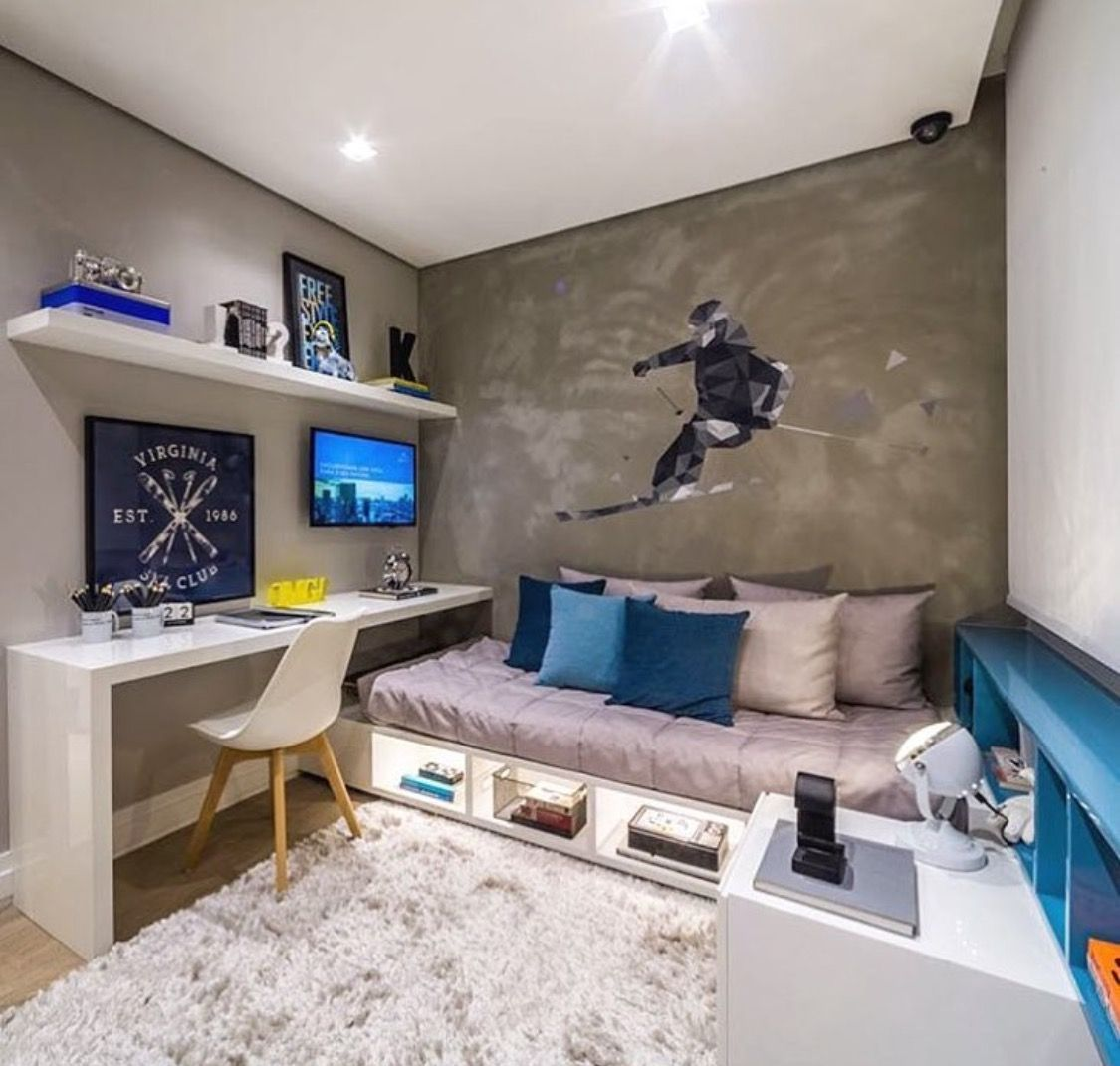 Colors grey white blue tones kids room in 2019 for Decoracion cuarto para jovenes hombres