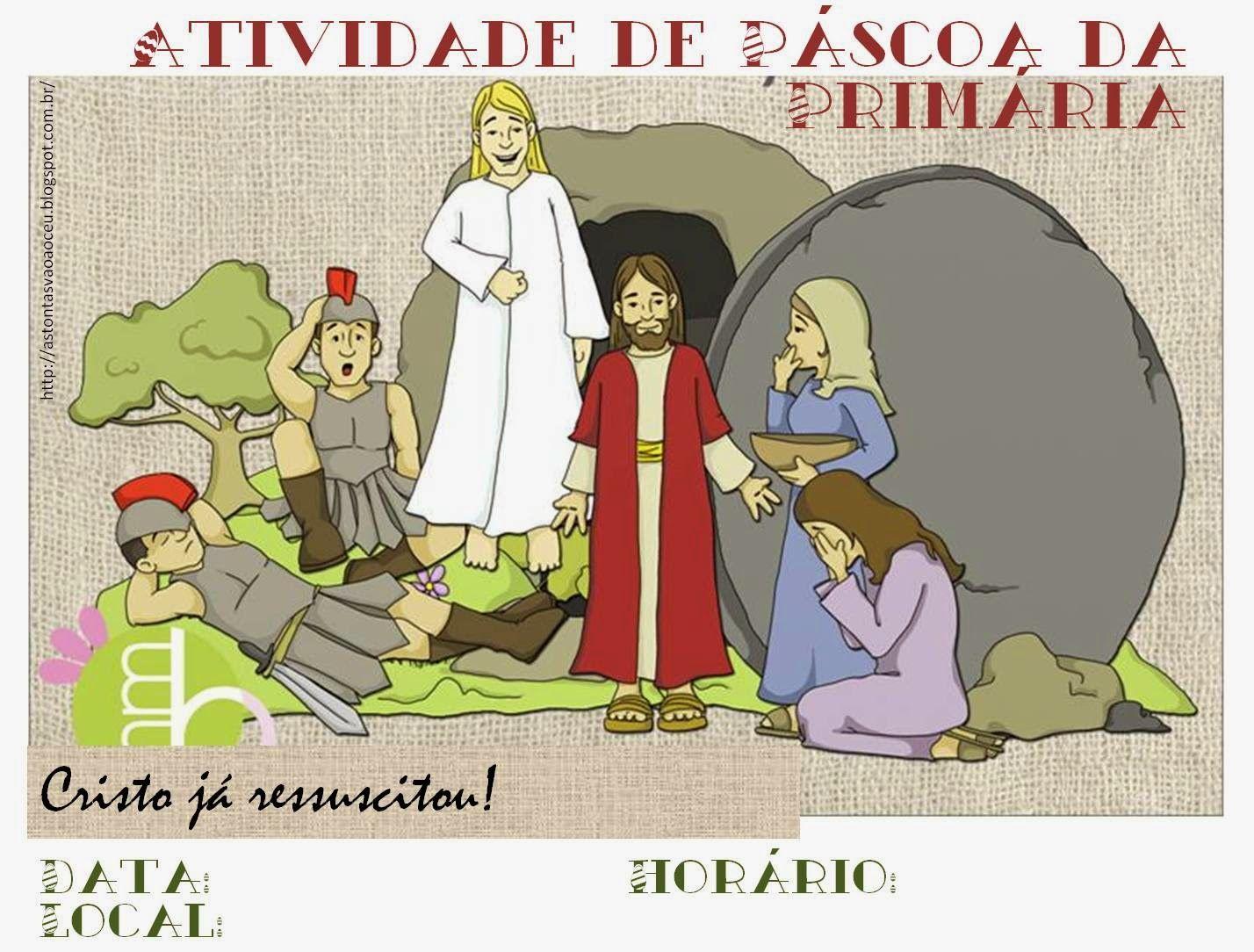 As Tontas Vão Ao Céu: Cartaz para Atividade de Páscoa da Primária ...