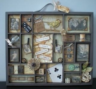 #papercraft #printerstray.   shadow box art altered-art