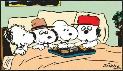 snoopy and his brothers.