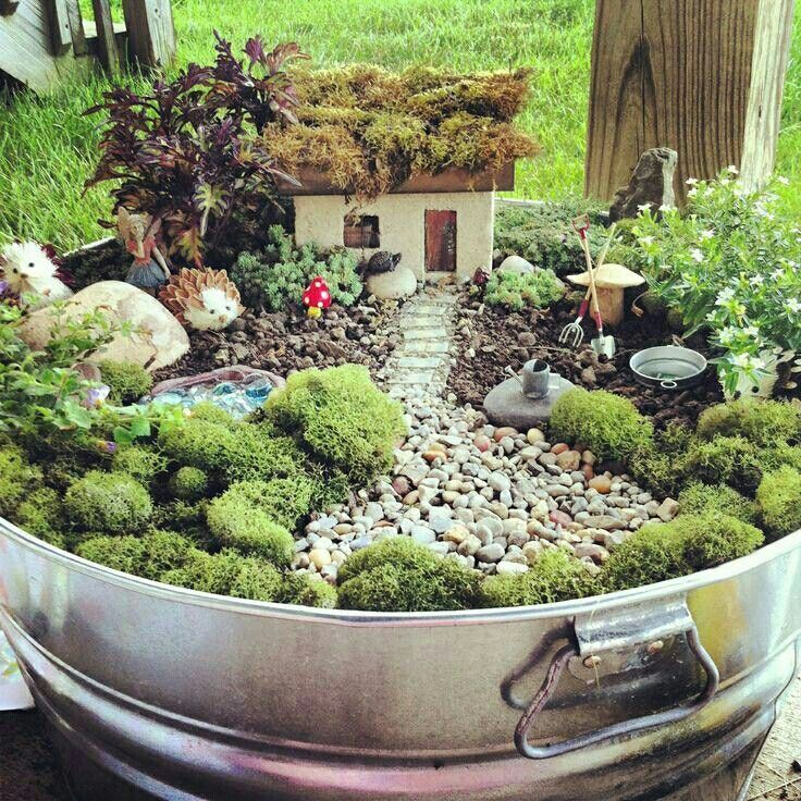 1000 ideas about indoor fairy gardens on pinterest fairy gardening miniature gardens and - How to make a fairy garden container ...