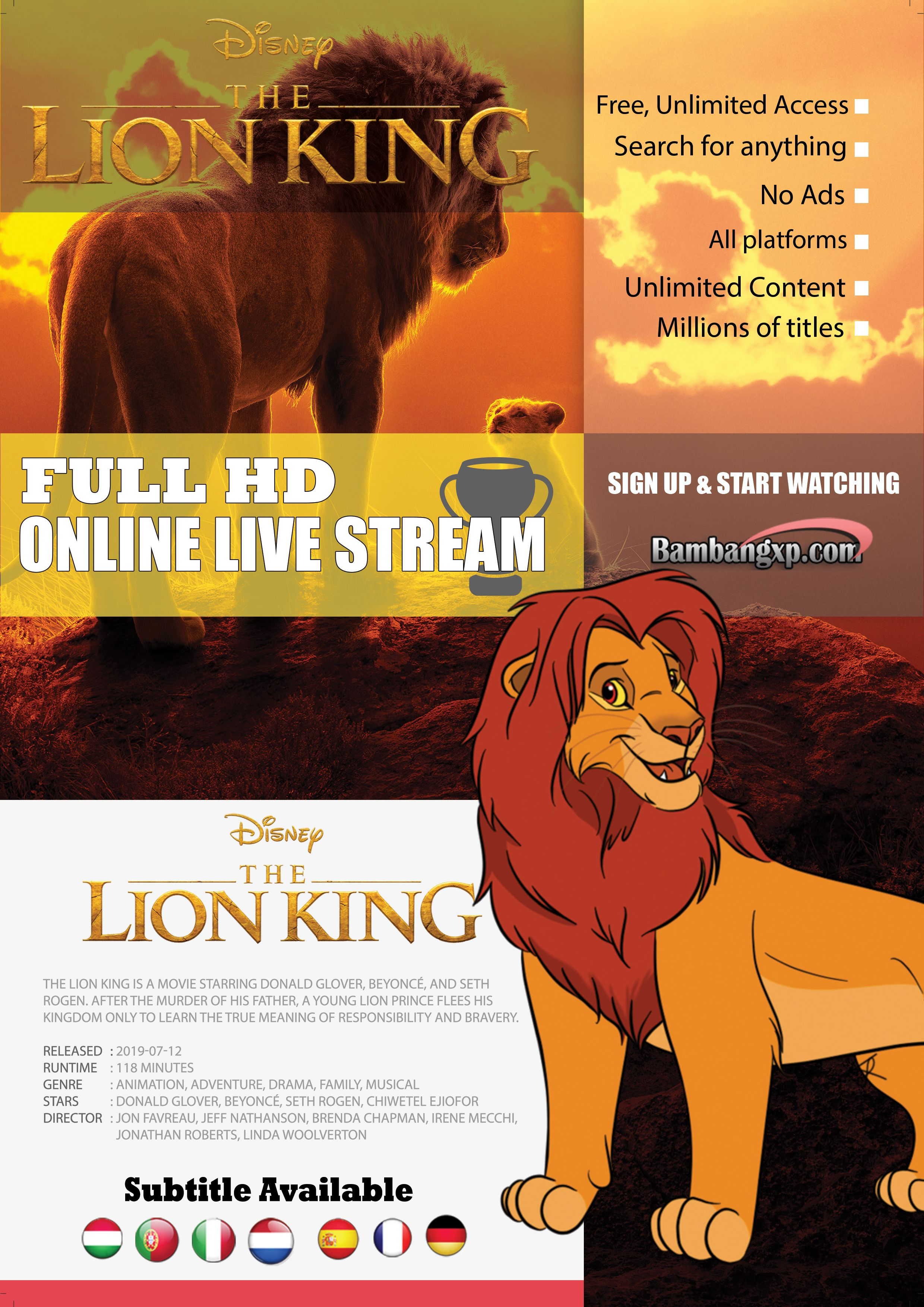 Watch Streaming Online The Lion King 2019 Free Full Hd 1080p