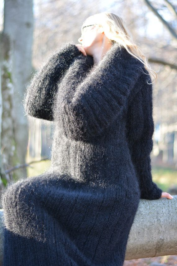 hand gestrickte mohair fuzzy shrug neck sweater dress gerade als referenz das kleid auf den. Black Bedroom Furniture Sets. Home Design Ideas