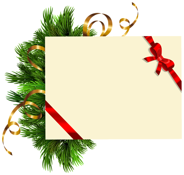 Christmas Blank With Pine Branches Png Clipart Image Christmas Banner Diy Christmas Banners Christmas Border
