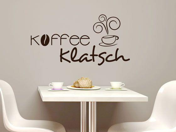 Wandtattoo #Schriftzug Kaffeeklatsch für Ihre #Küche - wandtattoos küche kaffee