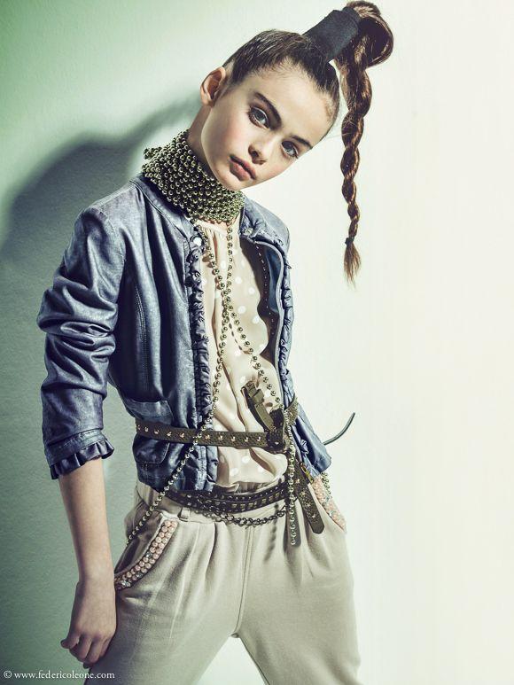Kids Fashion Photoshoot With Italian 10yo Top Model Giorgia Ceretto By Federico Leone Kids 2