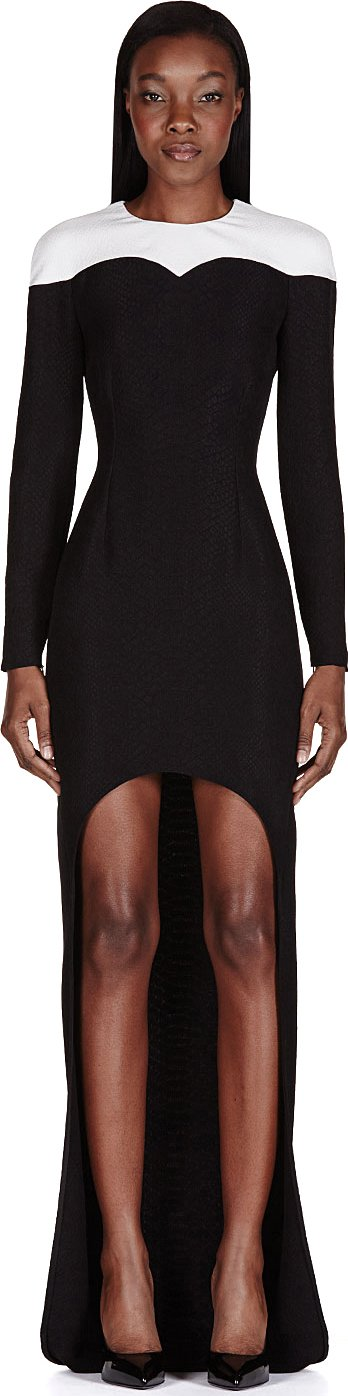 Stella McCARTNEY | Black Python Fishtail Dress