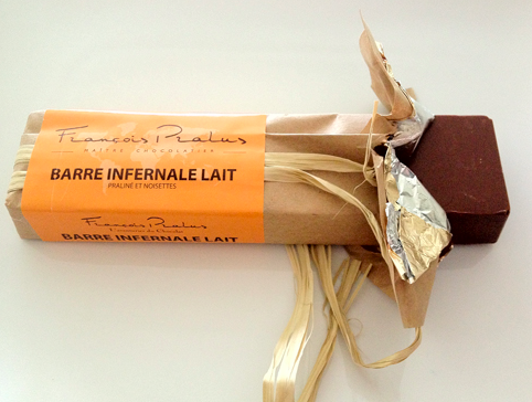 My new favorite chocolate: Francois Pralus Barre Infernale