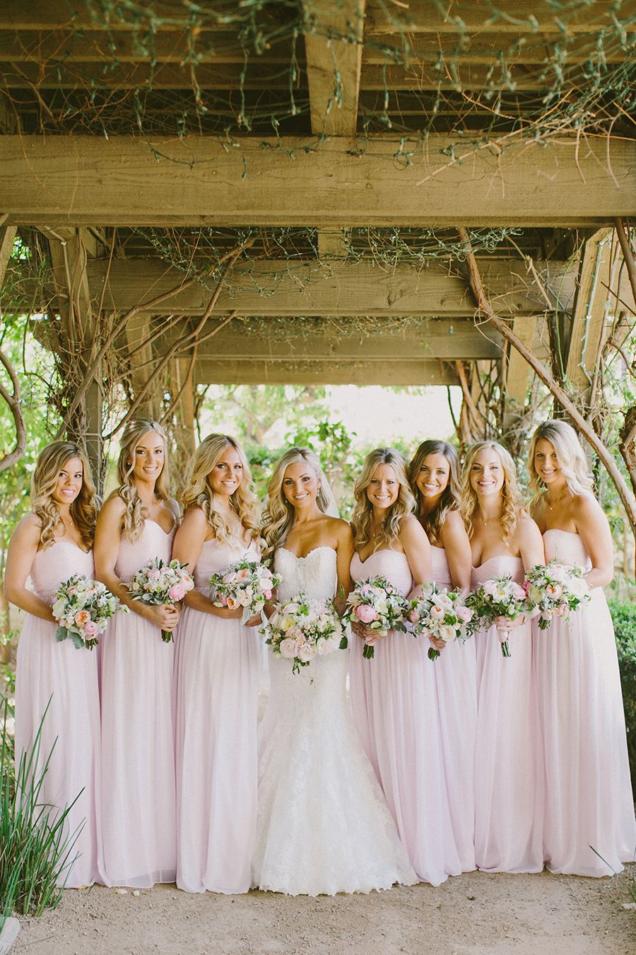 Lovely and lush romantic wedding wedding weddings and dream wedding lovely and lush romantic wedding light pink bridesmaid dressesdifferent ombrellifo Images
