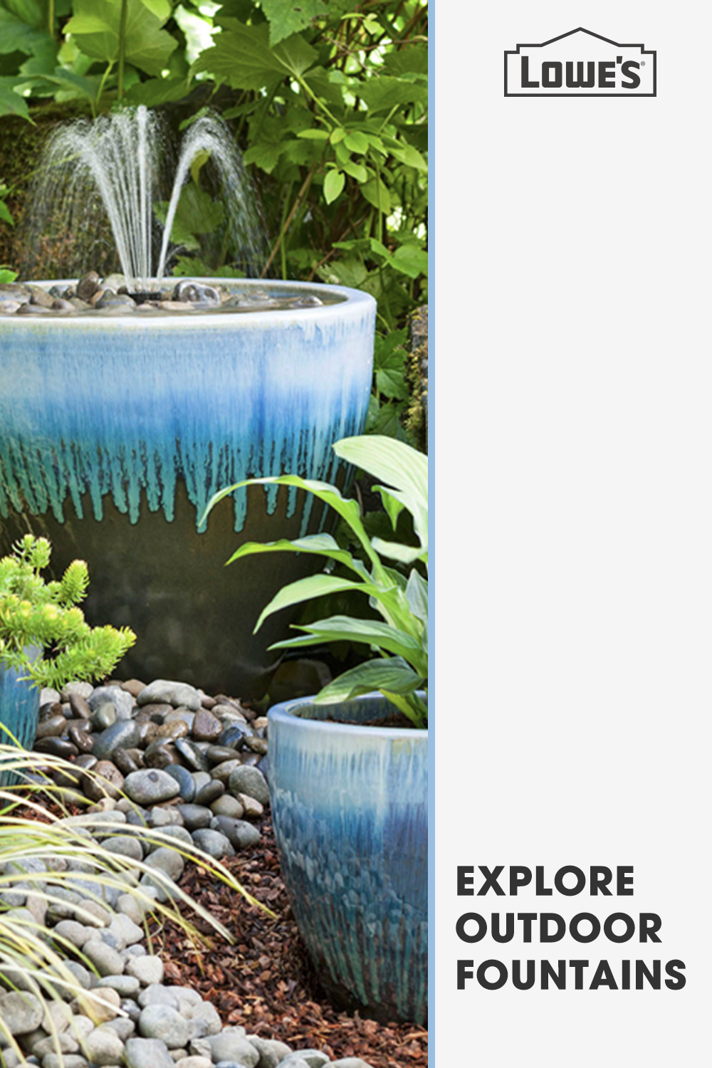 Outdoor Aspirations Find The Perfect Fountain At Lowe S To Turn