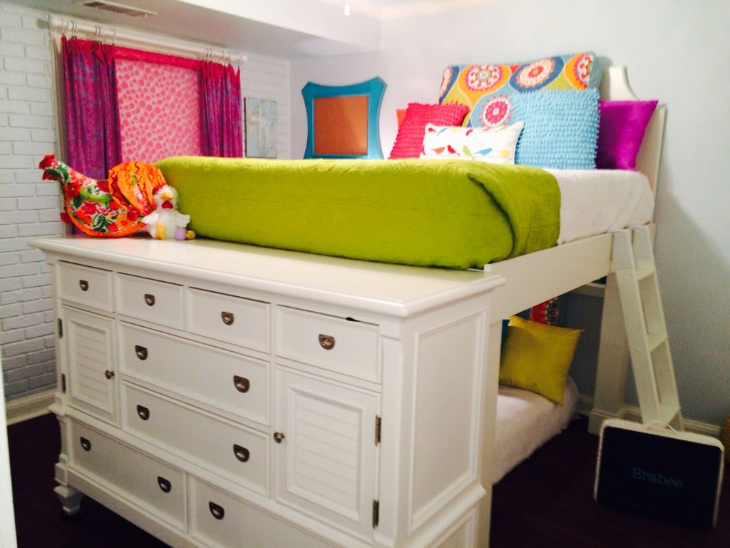 Dresser Loft Bed Combo Queen On Top And Old Daybed Twin Below