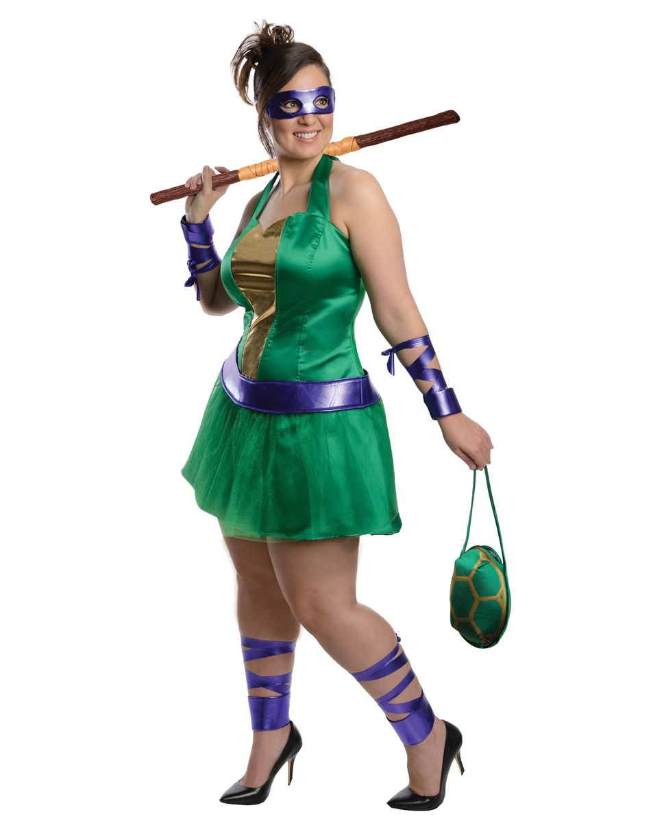 Teenage Mutant Ninja Turtle Costume Adult Female TMNT Halloween Fancy Dress
