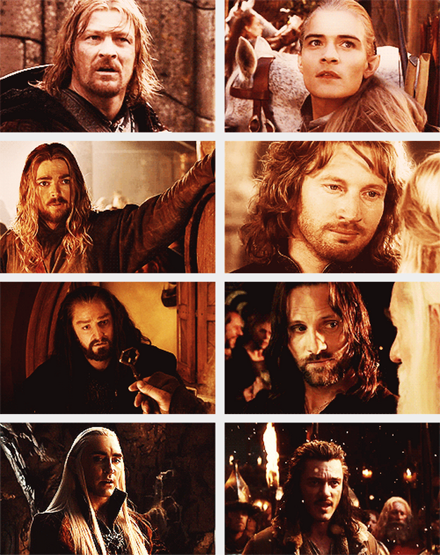 The Lord of the Rings and The Hobbit - Boromir, Legolas ...