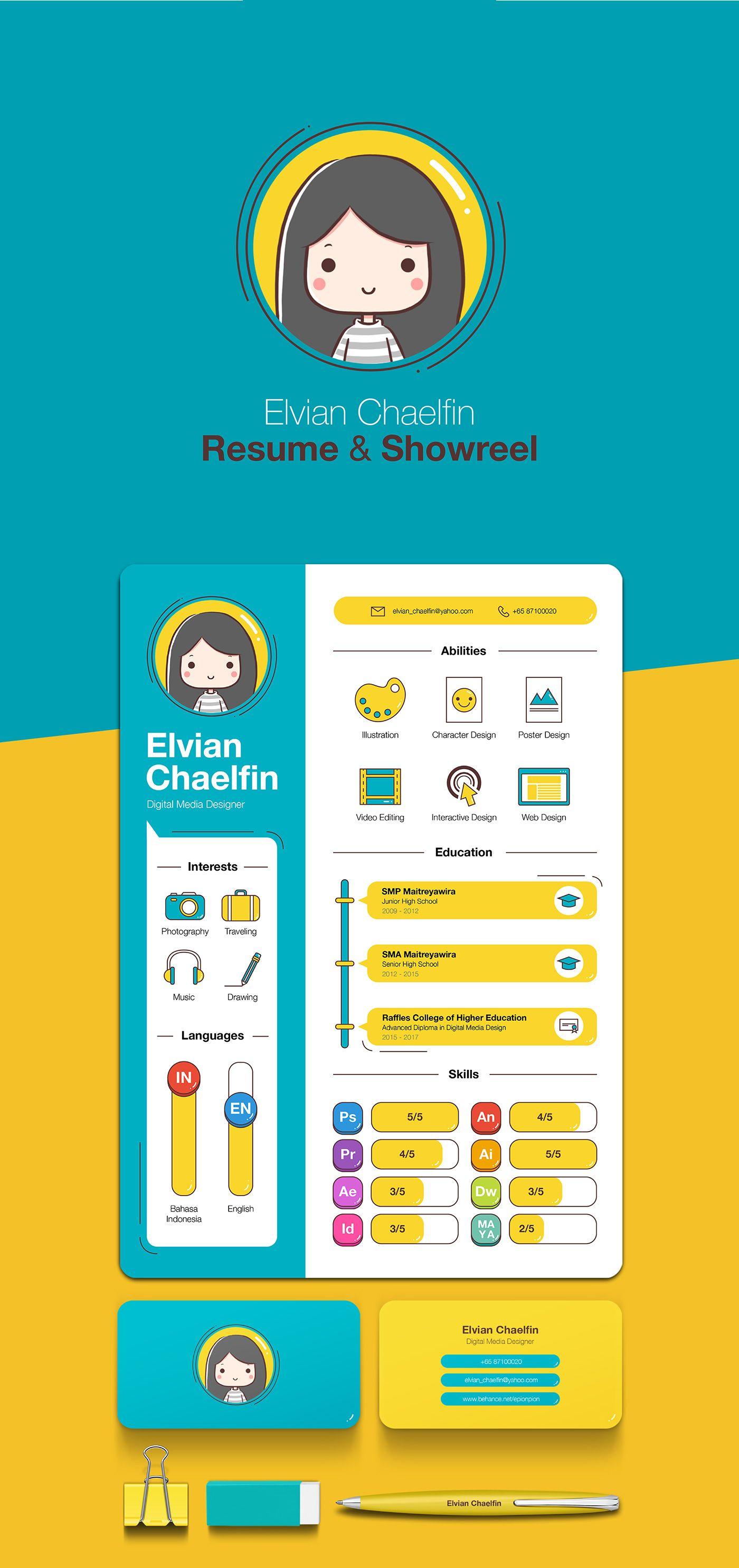 resume  u0026 portfolio reel 2016 on behance