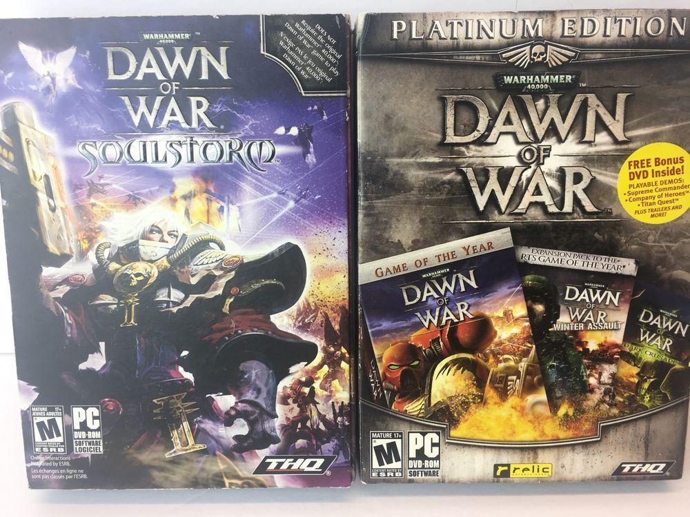 LOT Warhammer 40,000 Dawn of War Platinum Edition PC Games