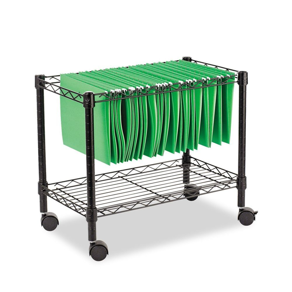 Rolling File Cart Organizer Portable Tier Hanging Mobile Filing Office Storage Alera