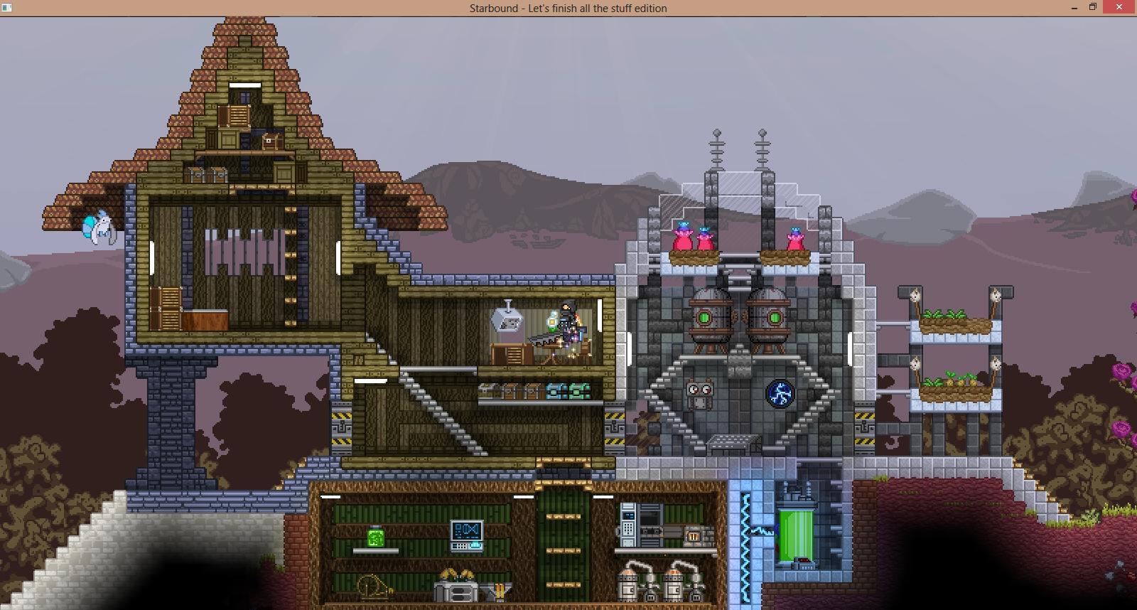 Starbound base-building :o | Starbound | Base building