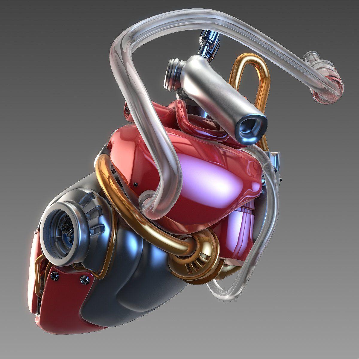 Artificial cyber heart #ds#Created#max#futuristic | 3d