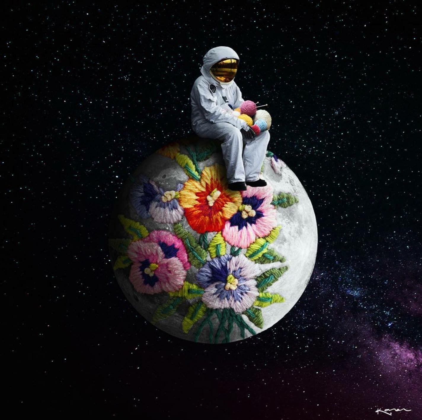 Pin de st en Astronaut   Pintura boceto, Ilustraciones ...