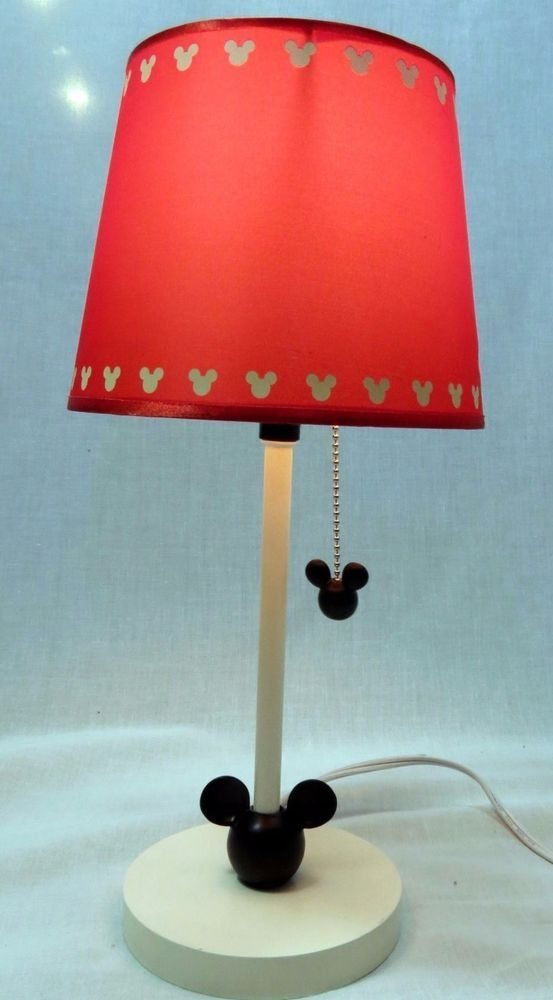 Vintage disney mickey mouse lamp red shade mickey pull chain 16in vintage disney mickey mouse lamp red shade mickey pull chain 16in in collectibles aloadofball Gallery