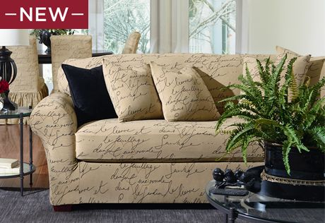 Stretch Pen Pal Two Piece Sofa Slipcover Fun With