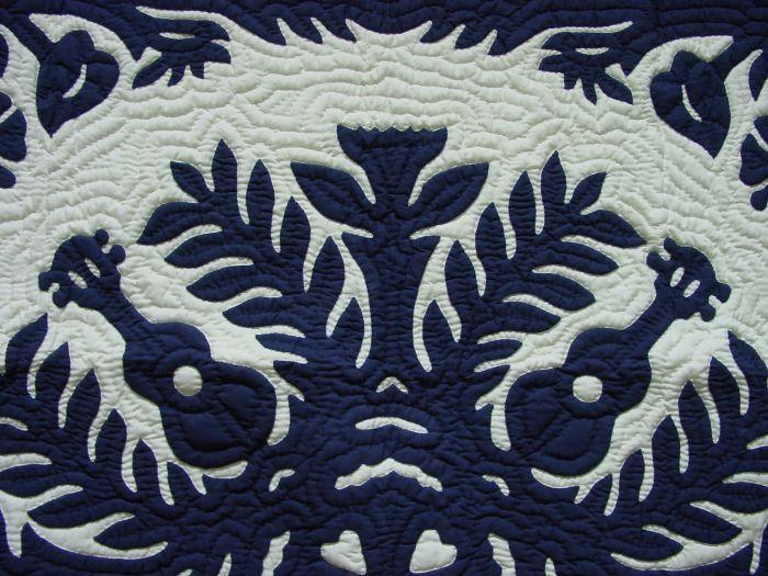 Hawaiian Quilt - Ukulele & Anthurium pattern | Quilts - Hawaiian ...