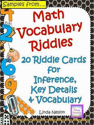 Math Vocabulary Riddles | Math, Math vocabulary and Dyscalculia