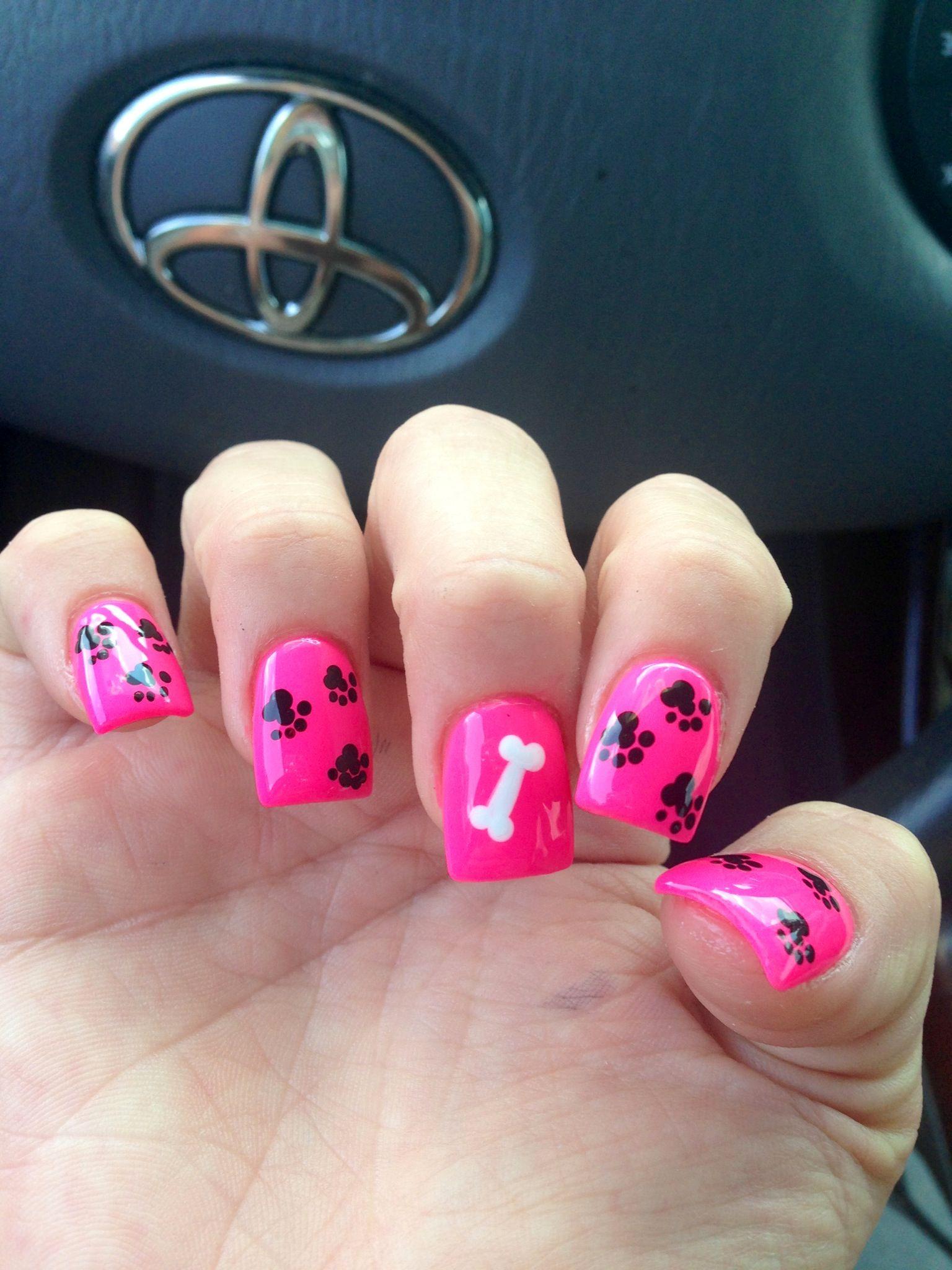 Paw print nails - Paw Print Nails Nails Pinterest Paw Print Nails, Printing And