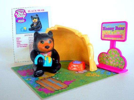 Vintage Littlest Pet Shop Zoo Honey Bear With Cozy Cave By Littlest Pet Shop Little Pet Shop Toys Pet Shop