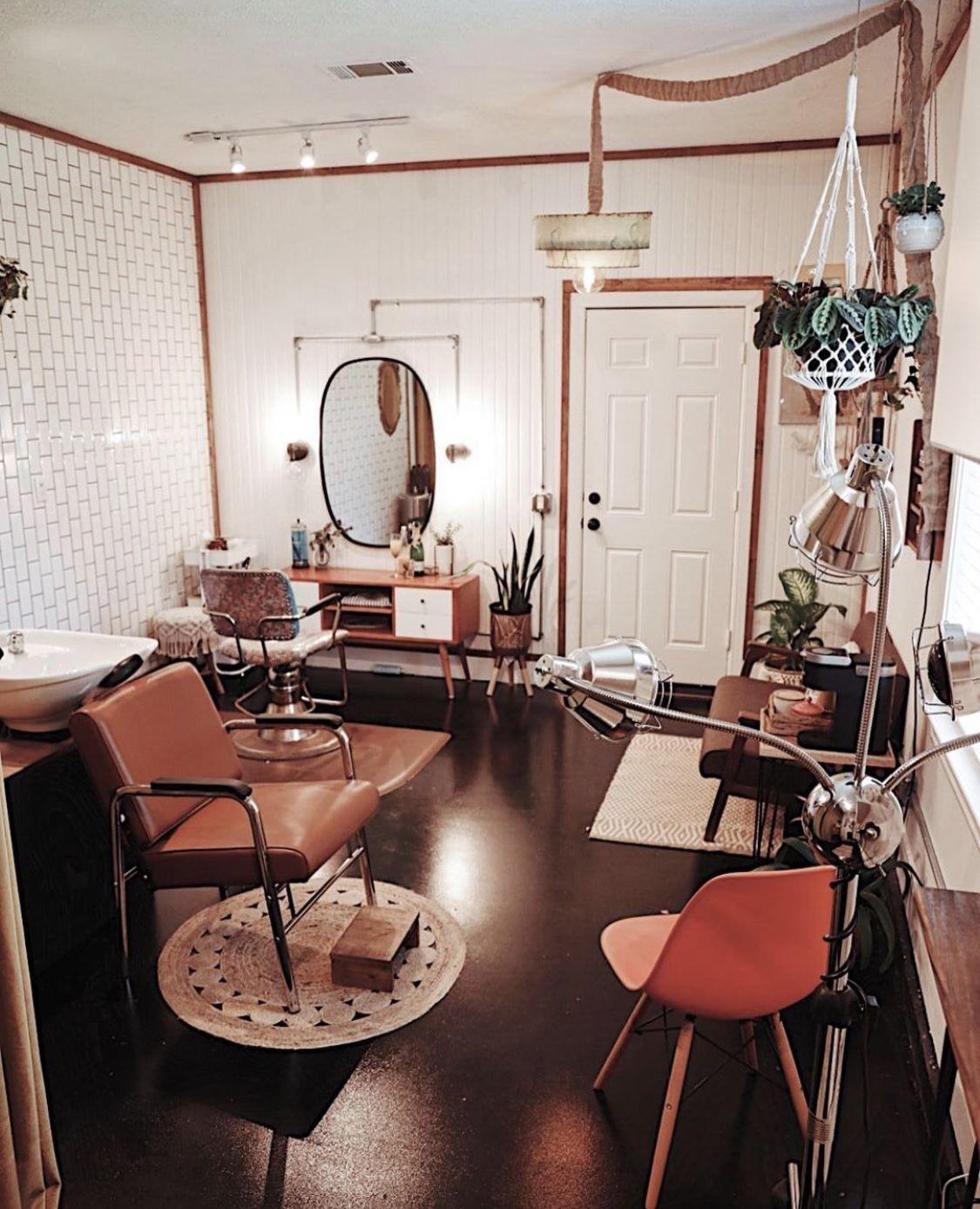 Blooming Maude Salon Myminerva Salon Suites Decor Home Hair Salons Home Beauty Salon