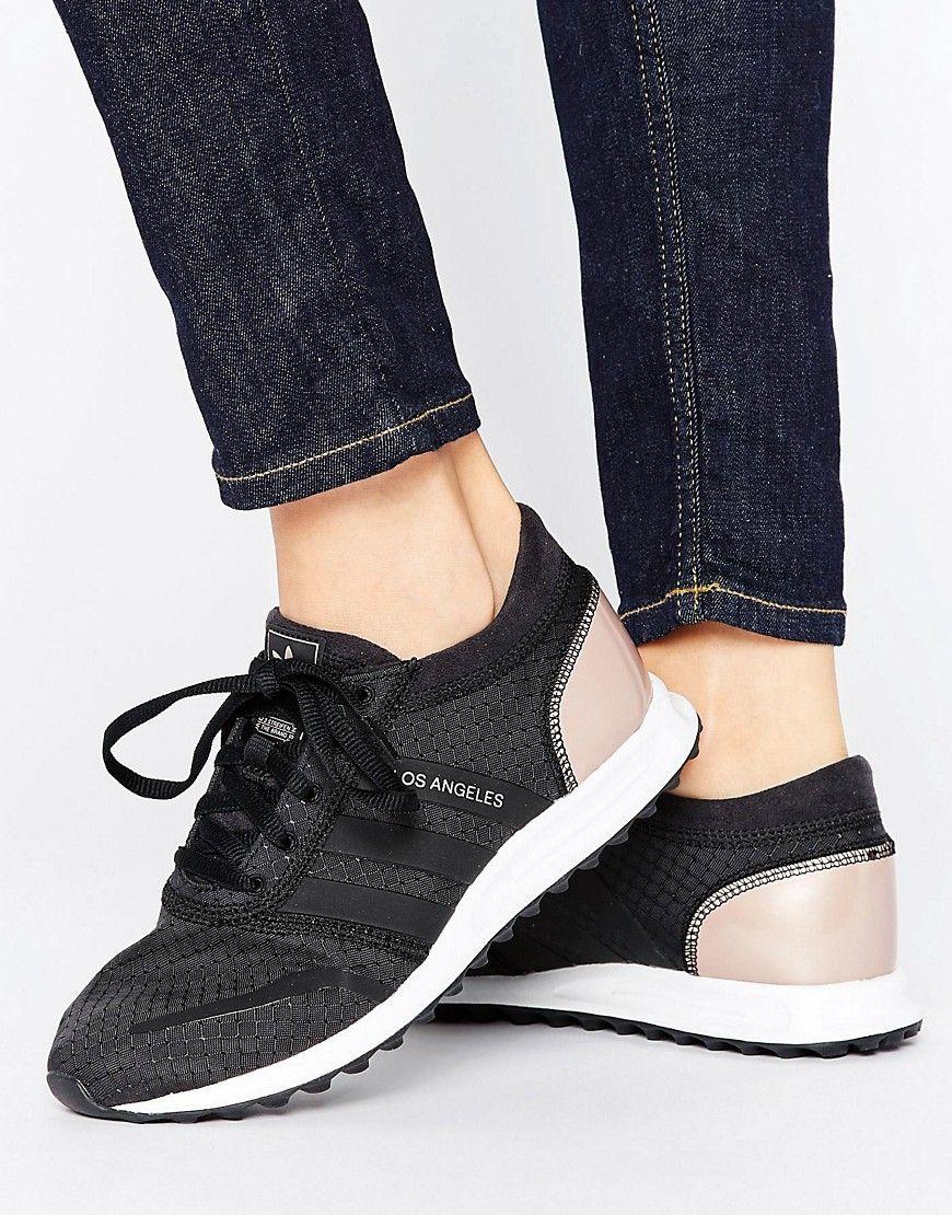 Zapatillas de deporte en negro y cobre Los Angeles de adidas