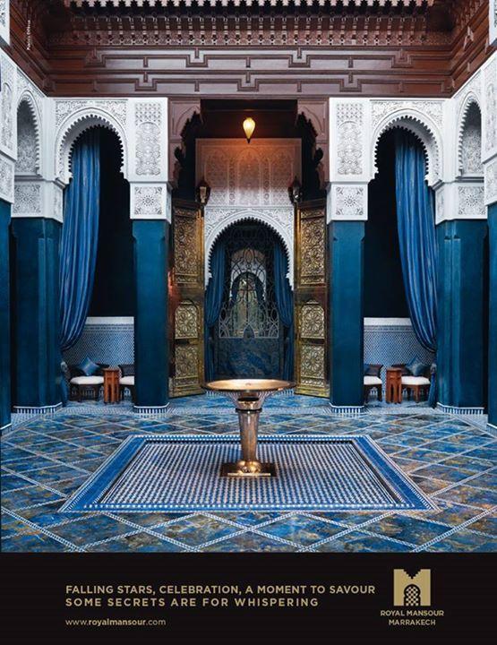 Royal mansour patio pinterest marruecos decoraci n marroqu y dise o marroqu - Decoracion marruecos ...