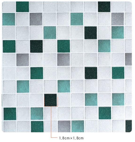 藍綠馬賽克 正版韓國馬賽克防水壁貼壁紙 免塗膠自黏 牆面遮污 櫥櫃翻新