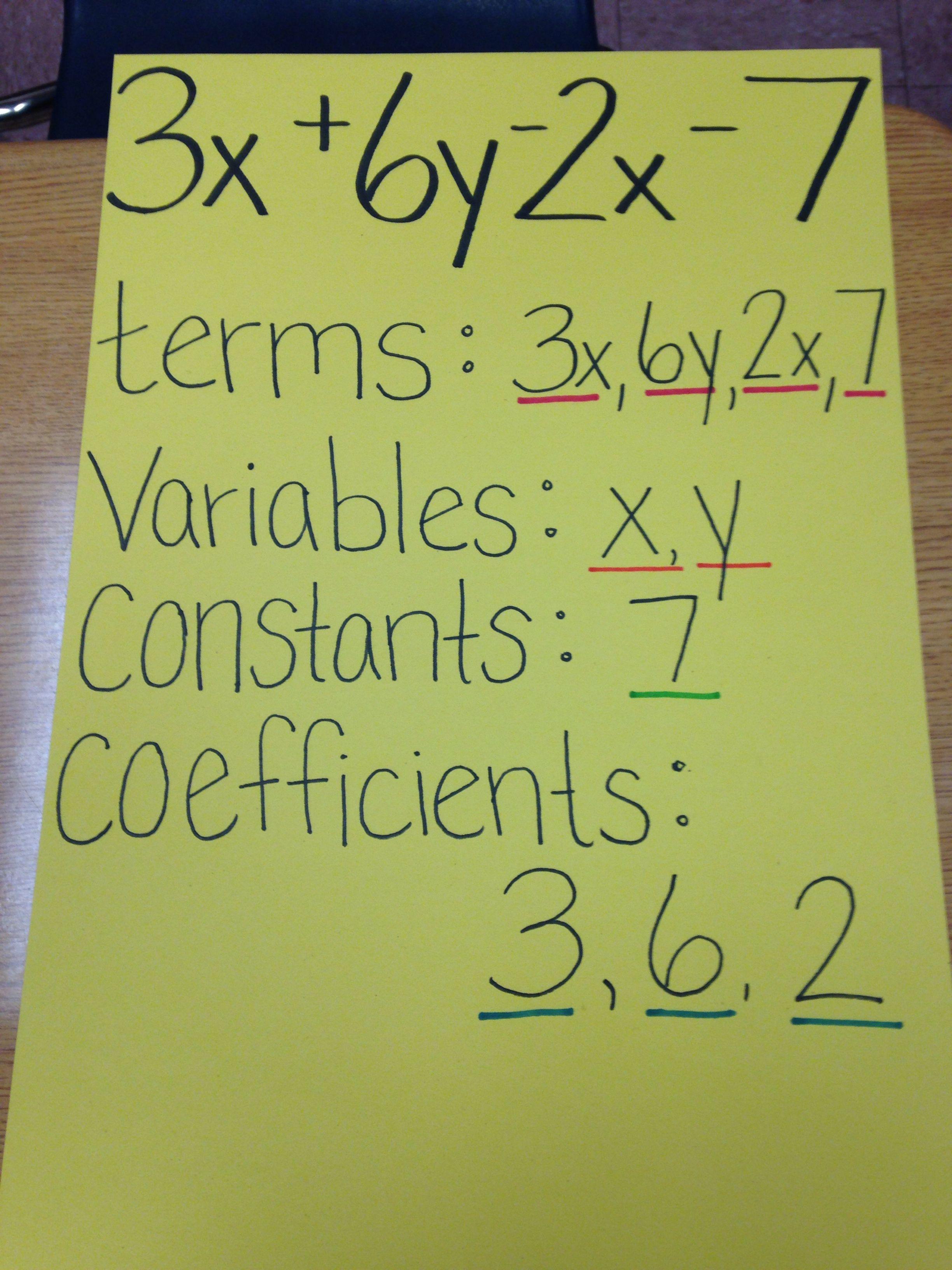 Pin By Megan Elizabeth On Middle School Math Algebraic Expressions Math Lessons Education Math [ 3264 x 2448 Pixel ]