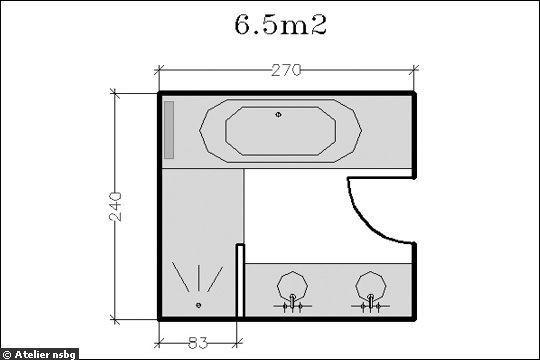18 plans de salle de bains de 5 11 m d couvrez nos for Plan salle de bain gratuit