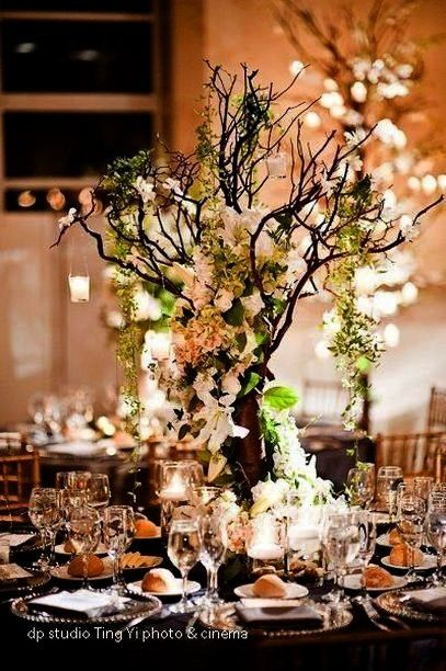 decorations for wedding ideas 45 Enchanted forest decorations for wedding ideas 45 -  -Enchanted fo
