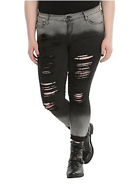 61da74e64e  p These skinny jeans from Blackheart fade from grey to black