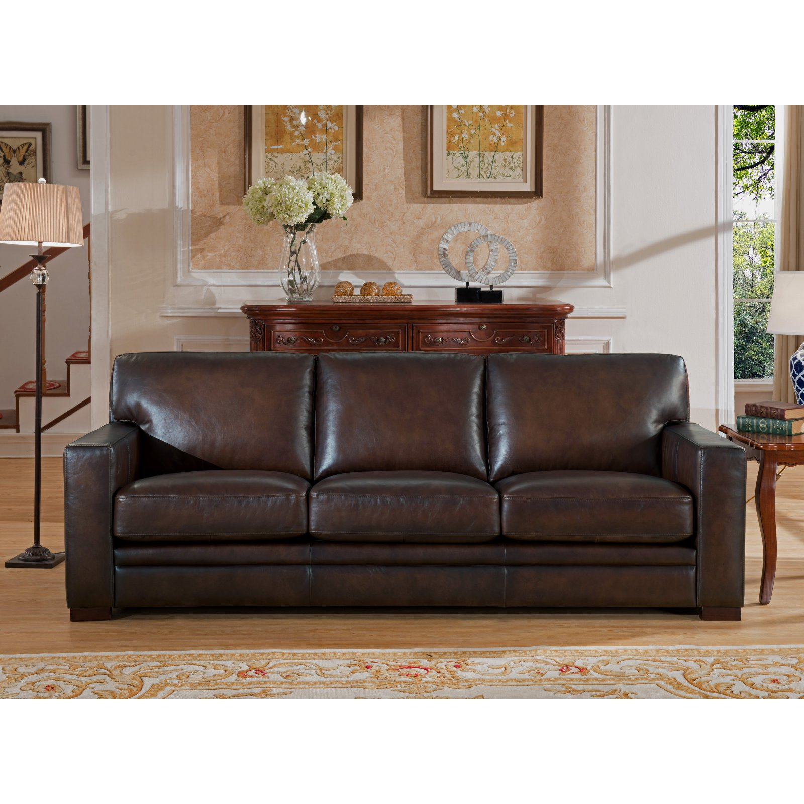 Sofa On Online Amax Leather Chatsworth Top Grain Leather Sofa Products In 2019