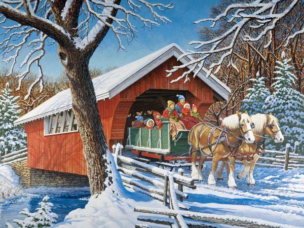 Sleigh Ride JohnSloaneArt.com - John Sloane - Gallery - Horsepower