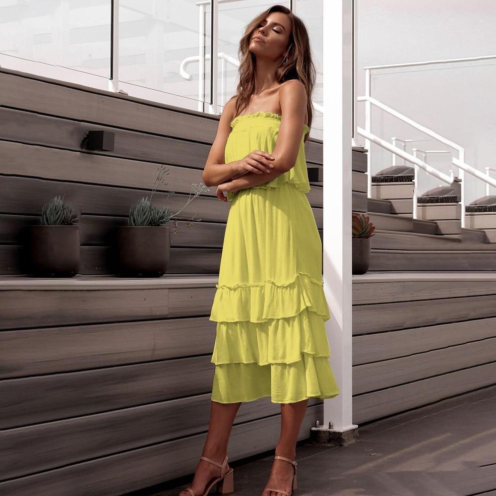 Two Piece Strapless Ruffle Dress Two Piece Dress Piece Dress Dresses [ 1000 x 1000 Pixel ]