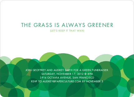 Green Is In Tshirtinspire Party Invitations Earth Day