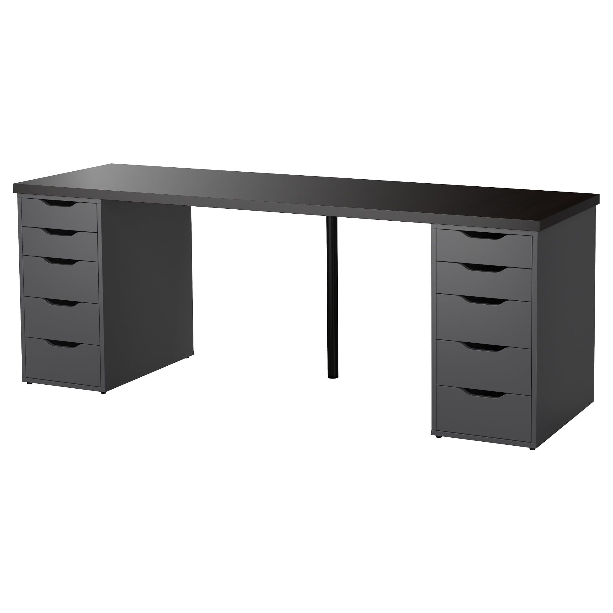 Linnmon Alex Table Black Brown Gray 78 3 4x23 5 8 Ikea In 2020 White Desk Office Ikea White Desk Ikea Office Desk