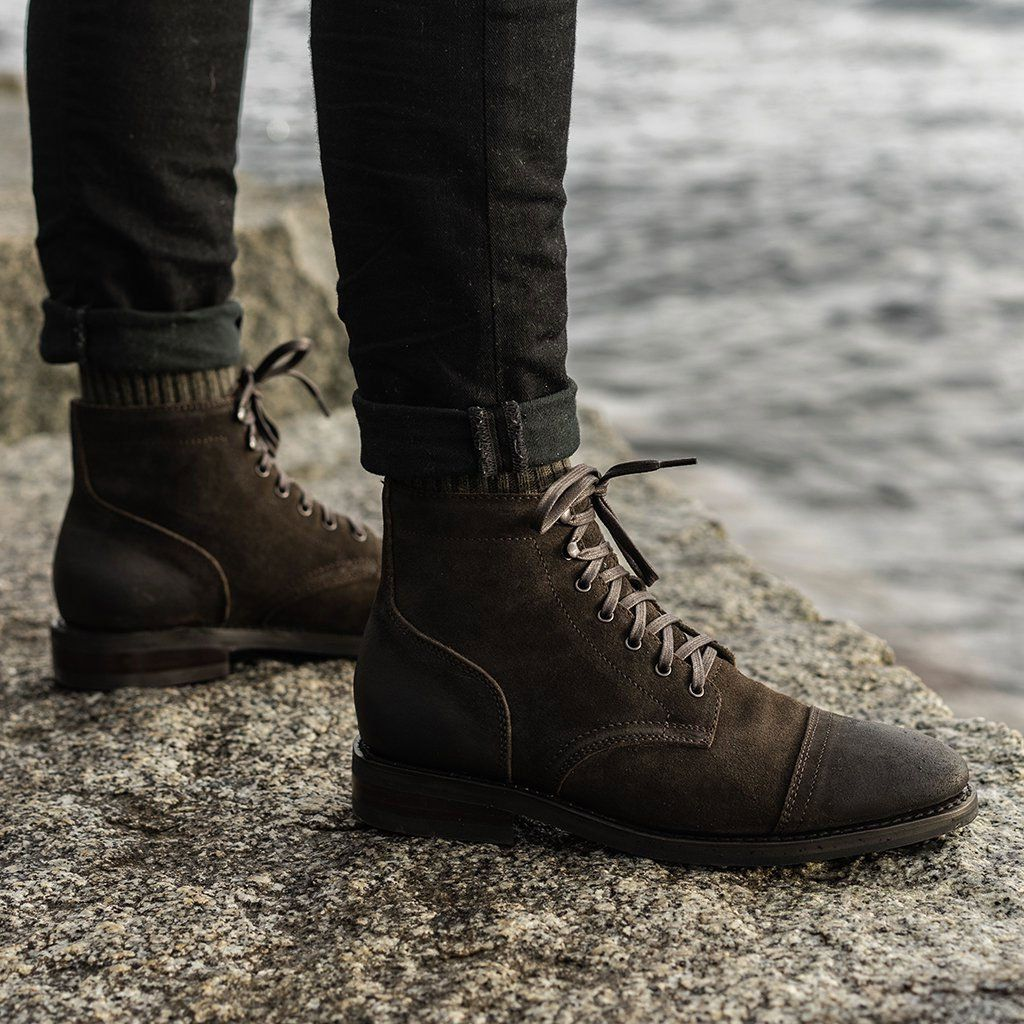 suede chelsea boots, Olive suede boots