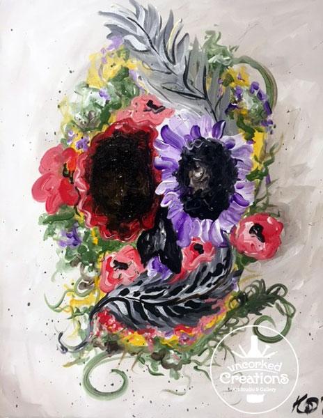 Calaveras Con Flores Tenemos Las Mejores Imagenes Calaveras